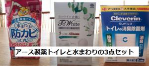 【掃除】アース製薬「ToWhiteトワイト」「らくハピ水まわりの防カビスプレー」「クレベリン・トイレの消臭除菌剤」を使ってみた。